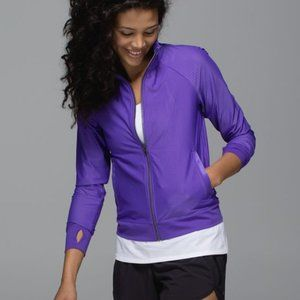Lululemon Sweaty or Not Mesh jacket Iris J33